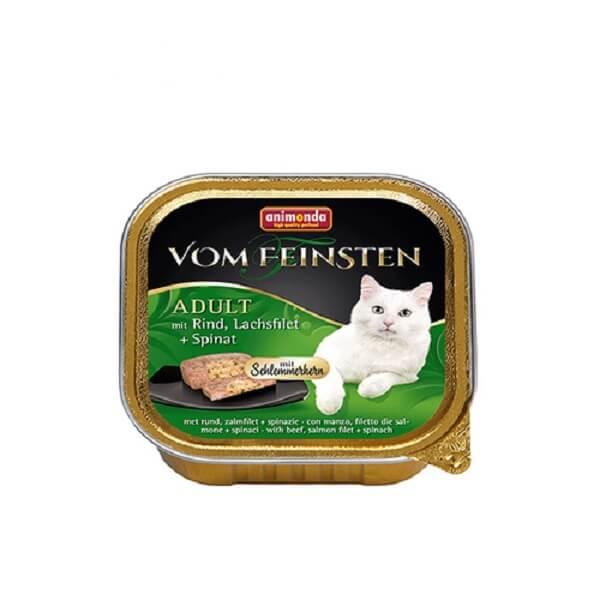خوراک کاسه ای گربه ووم فیستن با طعم اسفناج