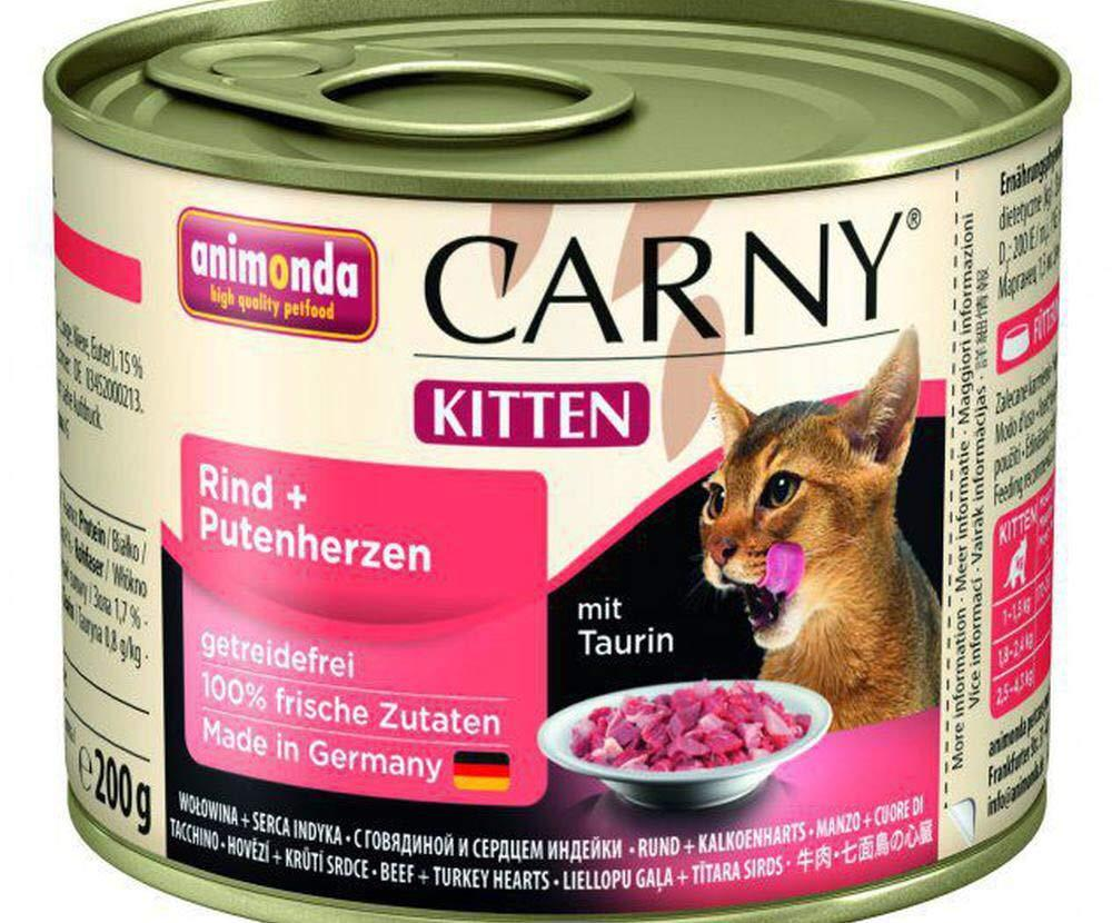 کنسرو بچه گربه کارنی باطعم گوشت گاو و دل بوقلمون