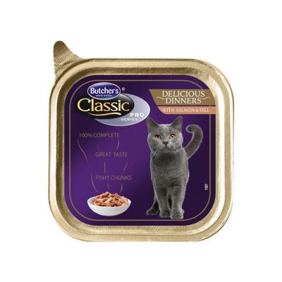 کنسرو گربه بالغ بوچرز باطعم ماهی