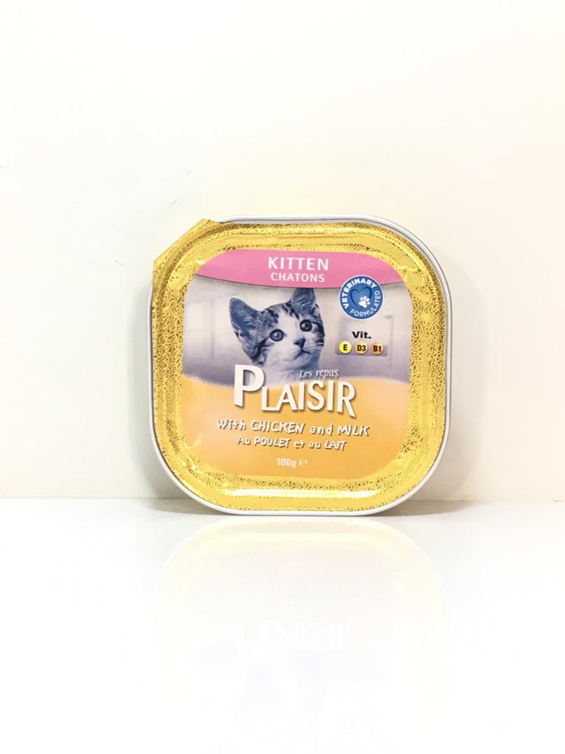 کنسرو بچه گربه پلیسرباطعم شیر و مرغ