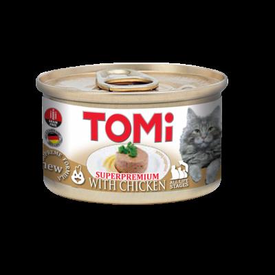 کنسرو بچه گربه با طعم مرغ تامی