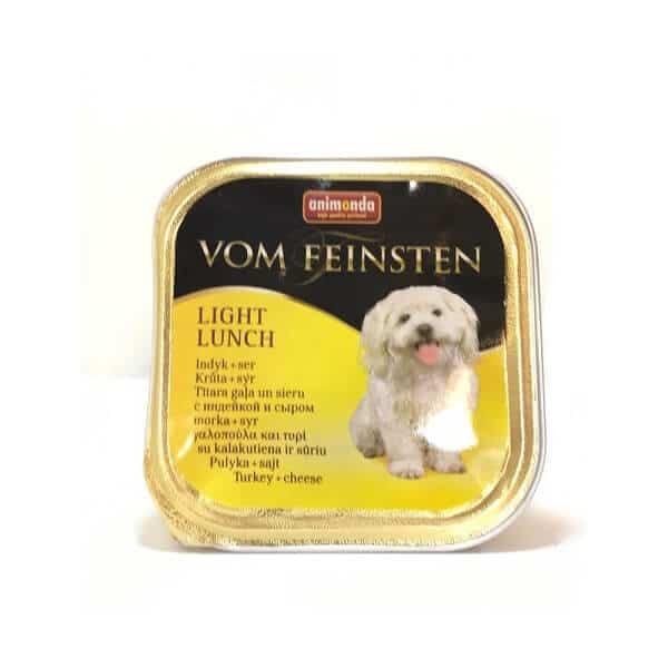 خوراک کاسه ای سگ ووم فیستن با طعم بوقلمون و پنیر