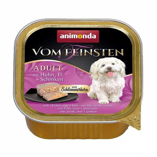 خوراک کاسه ای سگ ووم فیستن با طعم مرغ و ژامبون