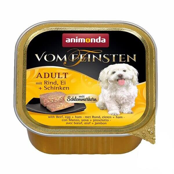 خوراک کاسه ای سگ ووم فیستن با طعم گوساله و ژامبون