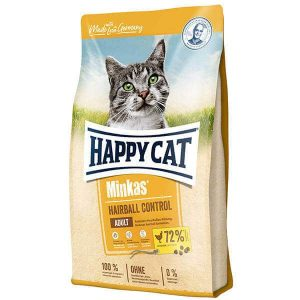 غذای خشک گربه هپی کت با طعم مرغ آنتی هربال