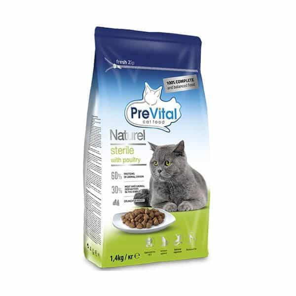 غذای خشک گربه پری ویتال با طعم مرغ و سبزیجات