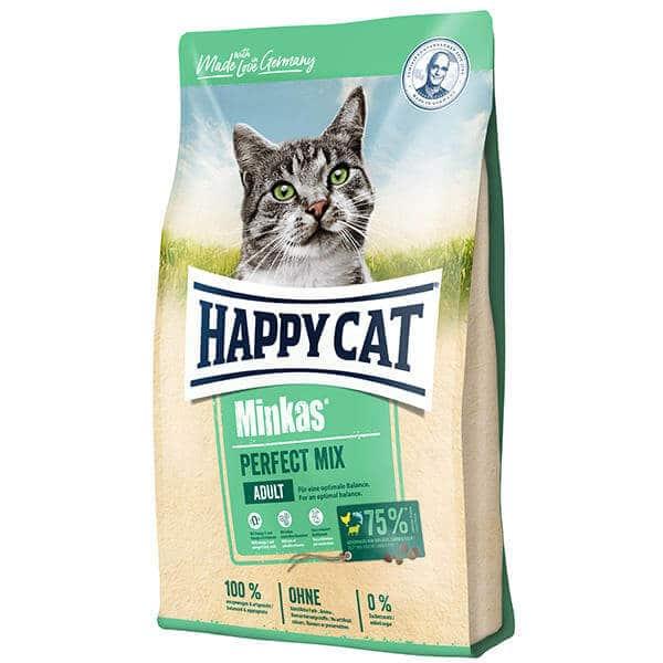 غذای خشک گربه هپی کت با طعم بره و مرغ و ماهی
