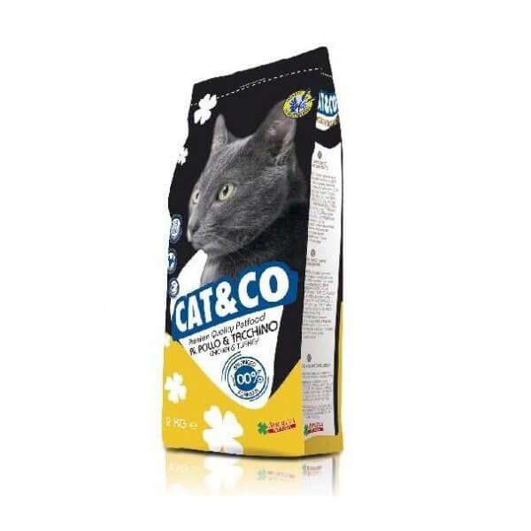 غذای خشک گربه کت اند کو با طعم بوقلمون و مرغ
