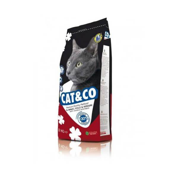 غذای خشک گربه کت اند کو با طعم گوشت و مرغ