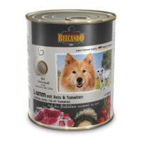 کنسرو سگ بالغ بلکاندو با طعم بره و برنج و گوجه