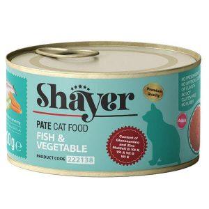 کنسرو پته گربه شایر با طعم ماهی و سبزیجات