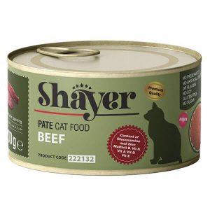 کنسرو پته گربه شایر با طعم گوشت گاو