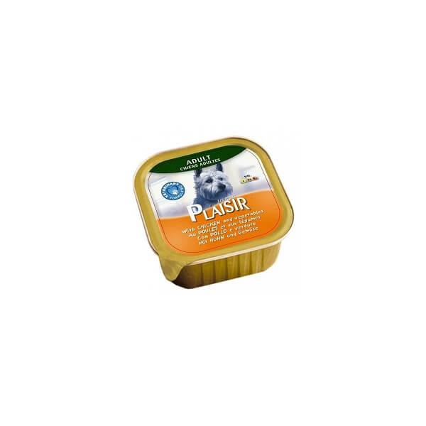 خوراک کاسه ای سگ پلازیر با طعم مرغ و سبزیجات
