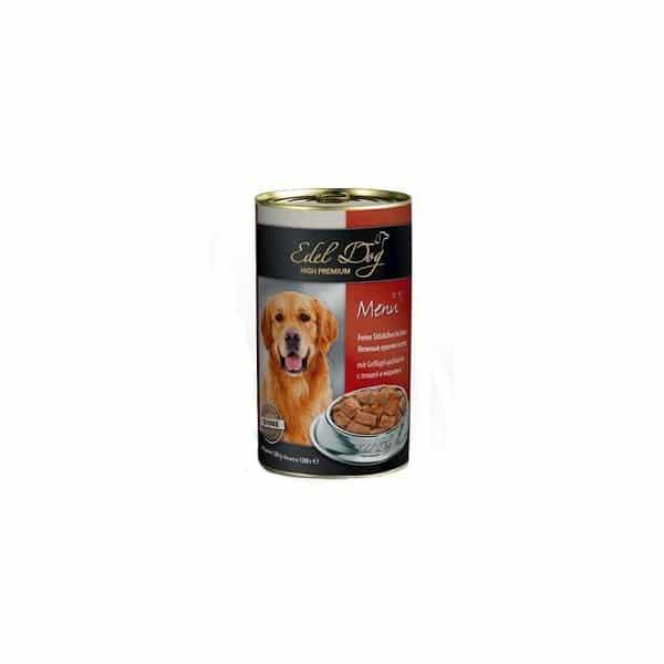 کنسرو سگ ادل داگ با طعم طیور و هویج
