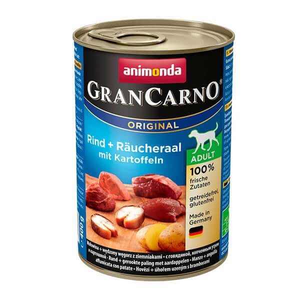 کنسرو سگ گرن کارنو با طعم گوساله و ماهی و سیب زمنی