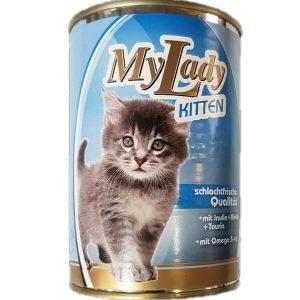 کنسرو بچه گربه مای لیدی با طعم مرغ