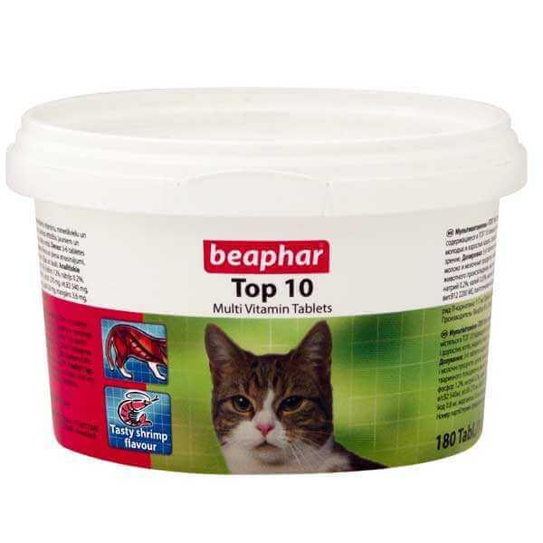 قرص مولتی ویتامین گربه بیفار مدل تاپ تن