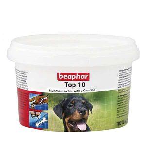 قرص مولتی ویتامین سگ بیفار مدل تاپ 10