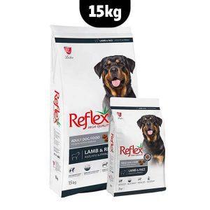 غذای خشک سگ بالغ رفلکس برنج و بره