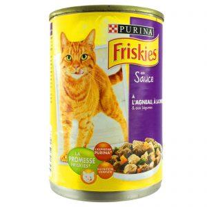 کنسرو گربه فریسکیز باطعم بوقلمون بره و سبزیجات