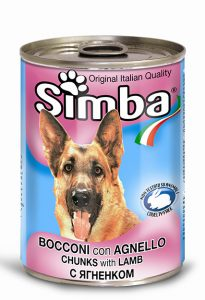 کنسرو سگ سیمبا باطعم بره