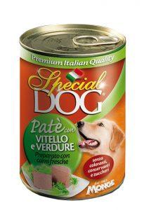 کنسرو پته گوشت و سبزیجات special dog