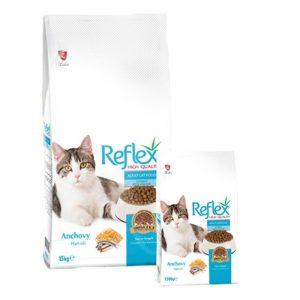 غذای خشک گربه رفلکس باطعم ماهی آنچوی