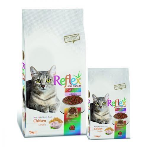 غذای خشک گربه بالغ رفلکس مولتی کالر