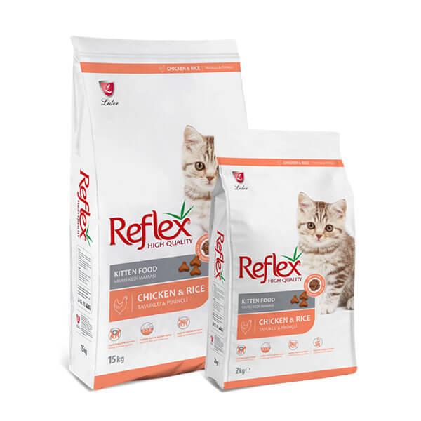 غذای خشک بجه گربه رفلکس