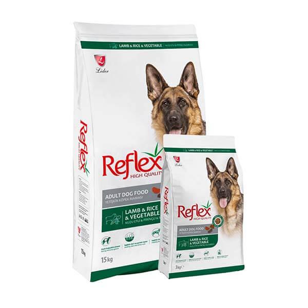 غذای خشک سگ بالغ رفلکس بره و برنج وسبزیجات