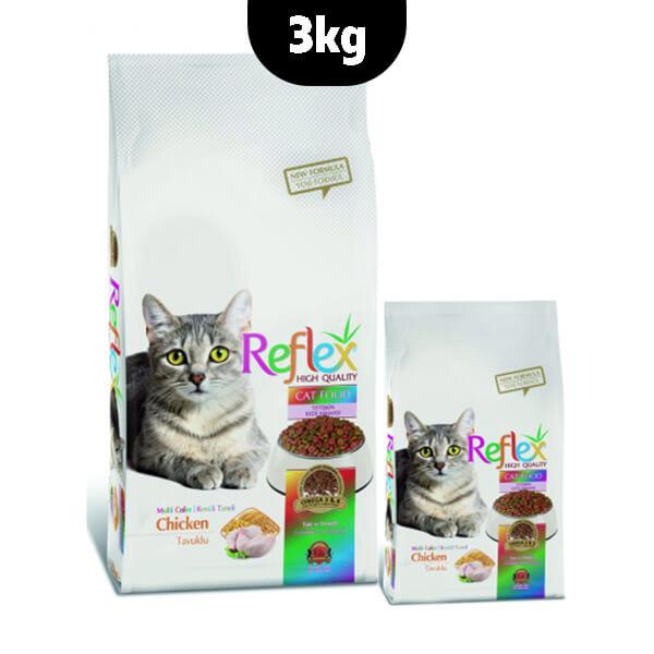 غذای خشک گربه رفلکس مرغ مدل مولتی کالر