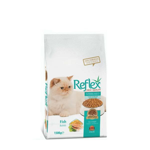 غذای خشک گربه عقیم شده رفلکس _ ۱۵ کیلوگرم